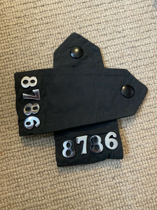 Obsolete Ex Police Black Epaulettes. Used. 1230.