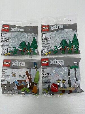 Lego de 4 x Polybag Extra: 2 x 40310 + 40341 + 40312  - NEW - SEALED