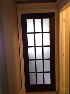 Solid mahogany interior doors