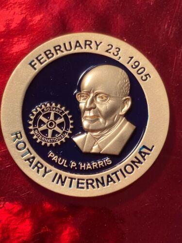 Rotary International CHALLENGE COIN  PAUL HARRIS FEBRUARY 23 1905 4 WAY TEST