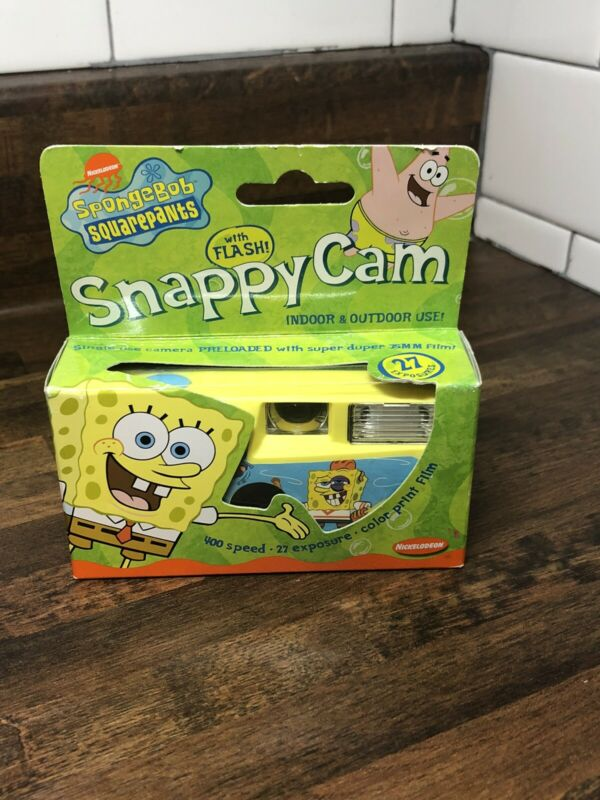 Vintage Spongebob Squarepants Snappy Cam Camera 2004 Nickelodeon