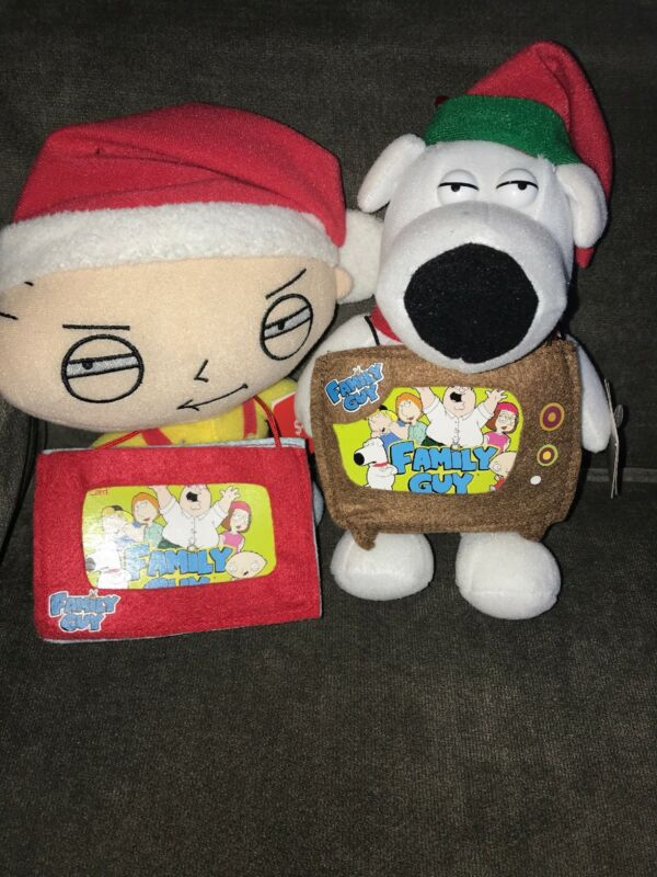 Family Guy Stewie And Brian Christmas Plush Dolls