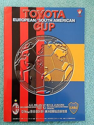 2003 - CLUB WORLD CUP FINAL PROGRAMME - AC MILAN v BOCA JUNIORS - V.G CONDITION