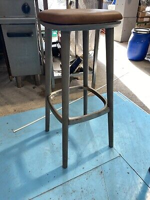 Bar Stool Wood And Leather