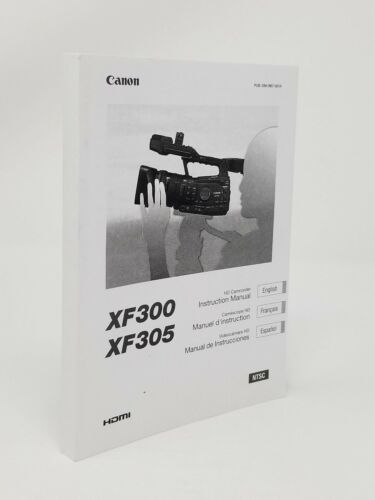 Canon XF300 Instruction Owners Manual Book NEW