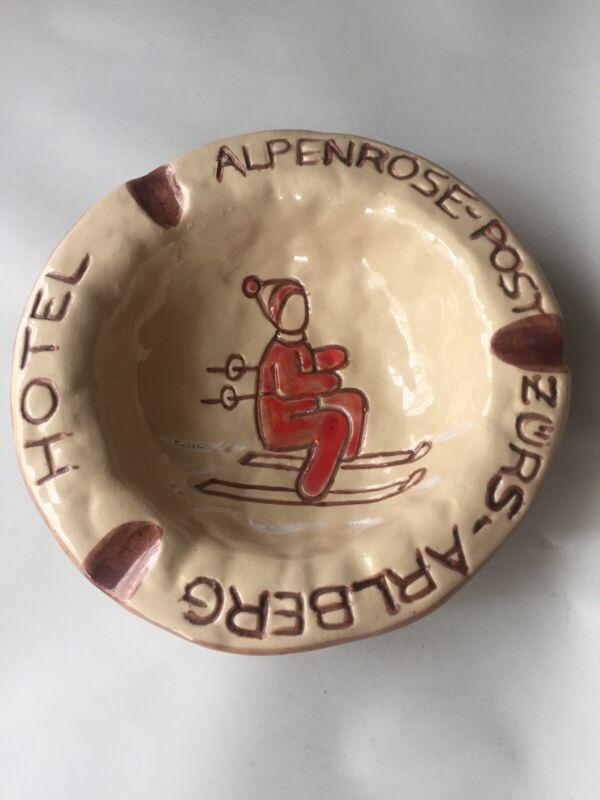 Vintage Hand Made 1960s Hotel Alpenrose-Post Zurs-Arlberg Ashtray