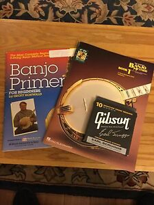 Learn to Play 5 String Banjo , Two Books and Strings.