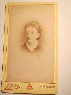 Bad Schwalbach - Frau mit Brille - Portrait / CDV