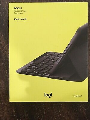 Logitech FOCUS Protective Case with Integrated Keyboard for iPad Mini 4, Black