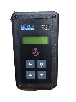 Mazur Instruments Prm-7000 Radiation Monitor Geiger Counter Quick Start Manual