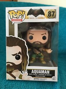 Pop! AQUAMAN. (87). Batman v Superman. Caulfield East Glen Eira Area Preview