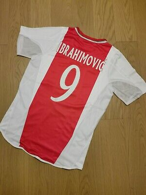 2005 Ajax Home Vintage Soccer Jersey #9 IBRAHIMOVIC Men Size M image