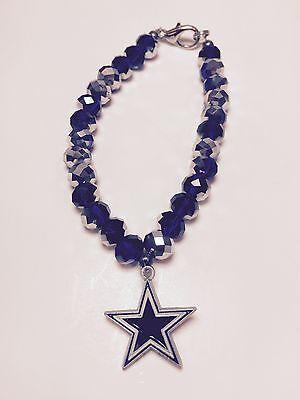 Dallas Cowboys Star Charm Crystal Bracelet