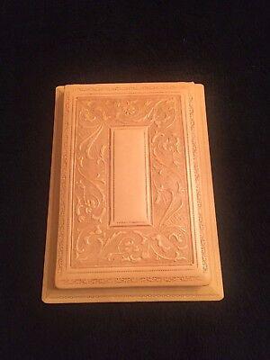 Ultra Luxury Bontruper Carved Genuine Leather Lt. Brown Note Pad 24k Gold Gilde