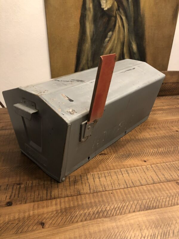 MCM Mailbox Southern Fabricators Steel With Flag Vintage Atomic Ranch