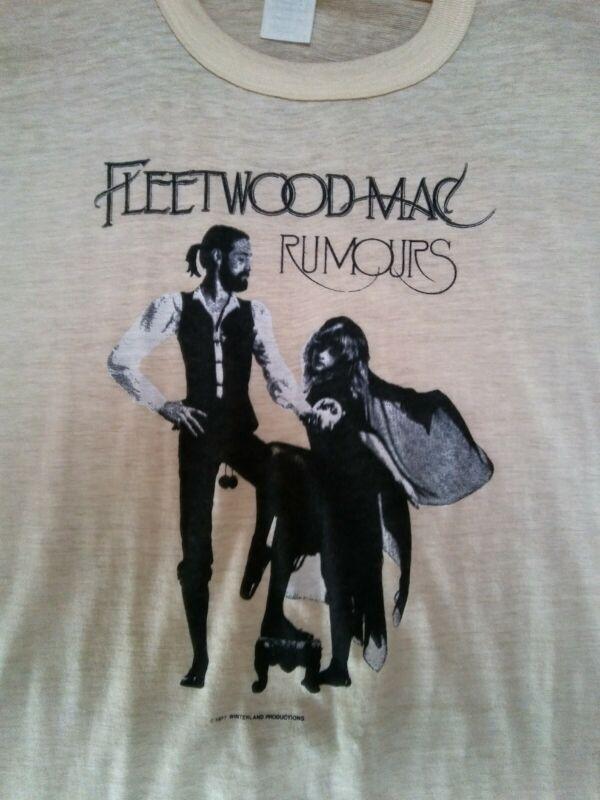 VINTAGE 1977 Fleetwood Mac Tour Shirt Sz Medium STEVIE NICKS** RARE !!!!!!