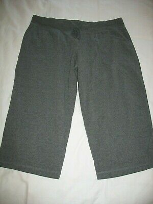 Athletic Works Knit Capri Pants Sz XL 16-18 Gray Drawstring Womens