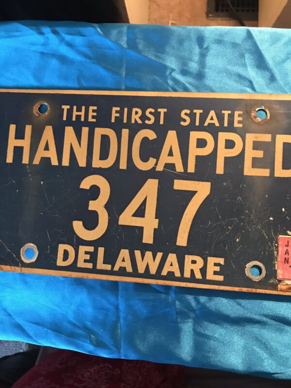 Old Delaware Handicapped License Plate