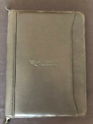 Leather Padfolio Zippered Portfolio Notebook