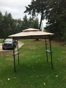 Barbecue cover stand, canvas
