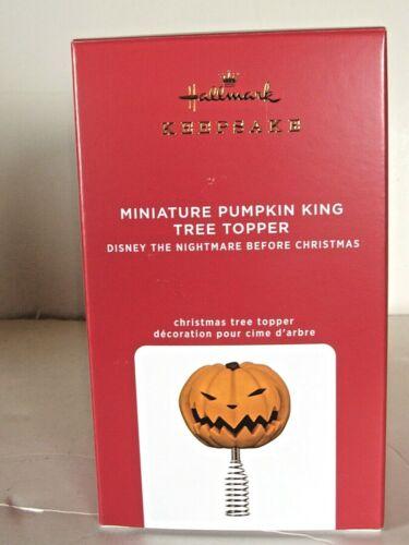 "2021 ""miniature pumpkin king tree topper nightmare b4 Christmas hallmark orn."