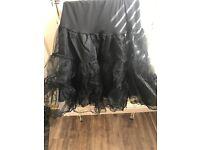 5 Layer Tulle  Underskirt Swing Vintage Petticoat Fancy Net Skirt Rockabilly-z