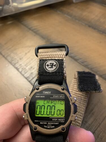 Timex 745 E5 Expedition INDIGLO 100 METER CHRONO Digital Watch Vintage - $45.00