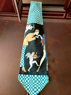 History of 1920s Men's Ties, Neckties, Bowties Flapper Cupid Roaring Twenties 1920's Novelty Men's Tie  $6.00 AT vintagedancer.com