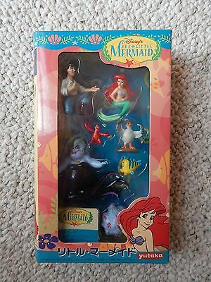 Disney THE LITTLE MERMAID 7 Figure PVC PlaySet Toy Yutaka Exclusive Japan 1997