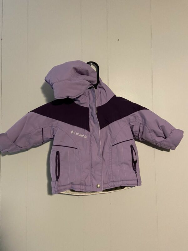 Girls Infant Size 12 Month Columbia Purple Winter Jacket