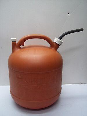 Vintage Eagle 5 Gallon Gal Plastic Vented Gas Can Wnozzle Spout Pg-5