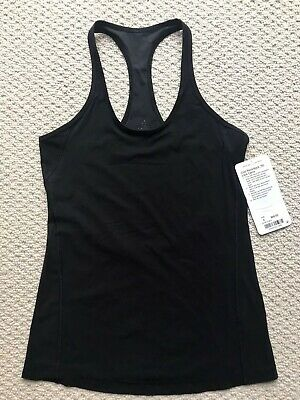 NEW! Lululemon Cool Racerback Tank Size 4 Black $48 Special Edition Lace Back