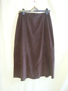 Ladies-Skirt-Miss-Sukhimani-28-waist-chocolate-brown-long-size-12-8199