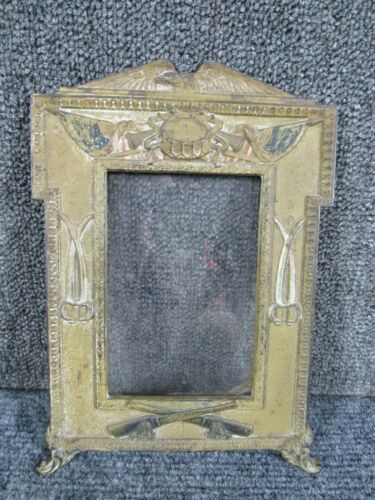 circa 1918 WWI US Military PATRIOTIC PICTURE FRAME for PHOTO