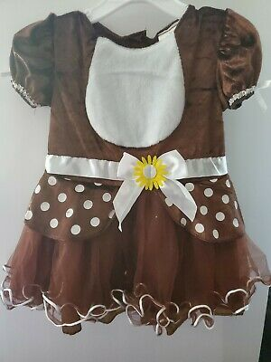 Reindeer Baby Costume (Reindeer Infant 6 - 12 Mos Months Baby Costume New Christmas Halloween Bambi)