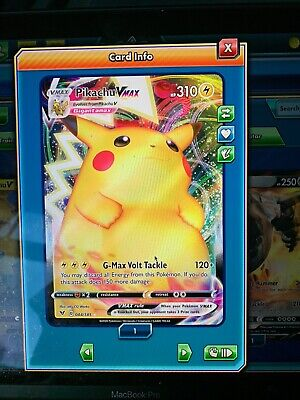 1X Pikachu Vmax 044/185 Vivid Voltage Pokemon Online Digital Card