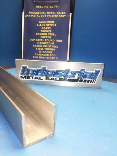 "2"" x 2"" x 12""-Long x 1/8"" Thick 6063 T52 Aluminum Channel"