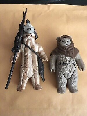 VINTAGE STAR WARS FIGURES LOGRAY & Chief Chirpa EWOKS 1980s Lovely