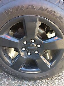 Brand-new Chevy wheels and tires