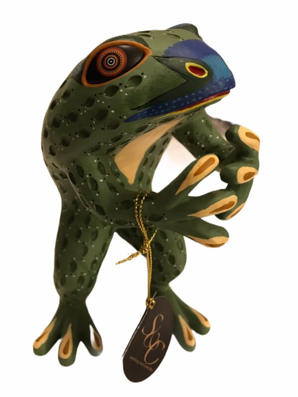 Sterling and Camille Inspiriters Frog Healing Tag Art Sculpture Figurine NEW