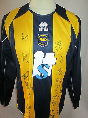 Brighton and Hove Albion 2008-2010 Away Football Shirt Signed by 08-10 squad COA image