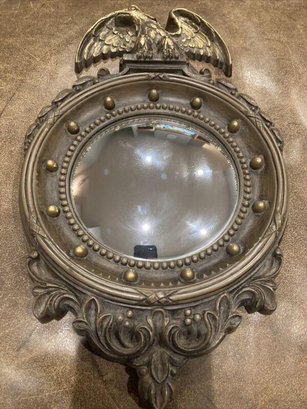 Vintage HOMCO American Bald Eagle Wall Mirror Porthole Bulls Eye 1945 Plastic