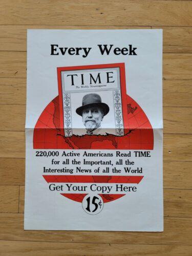 ORIGINAL VINTAGE 1930 TIME MAGAZINE ADVERTISING BROADSIDE