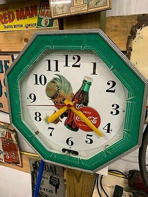 Vintage Coca-Cola Restaurant Neon Clock Sprite Boy Gas Oil Soda Cola