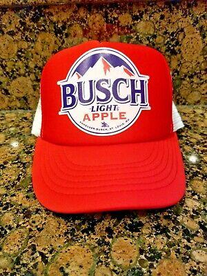 Busch Light Apple Latte Beer Trucker Hat BUSCHHHHH Bud Budweiser Light IPA brew
