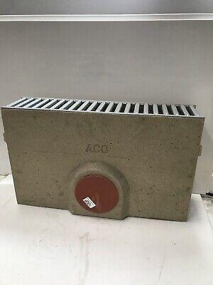 ACO Raindrain Domestic Channel Drain Sump Unit + Galvanised Grate 38703