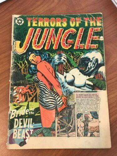 Terrors of the Jungle #7 LB Cole Bondage cover Star Comics 1953 low grade
