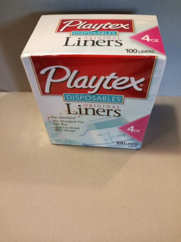 Vtg 100 Playtex 4oz Disposable Baby Bottle Liners Bags Pre-Sterilized NEW 2001!