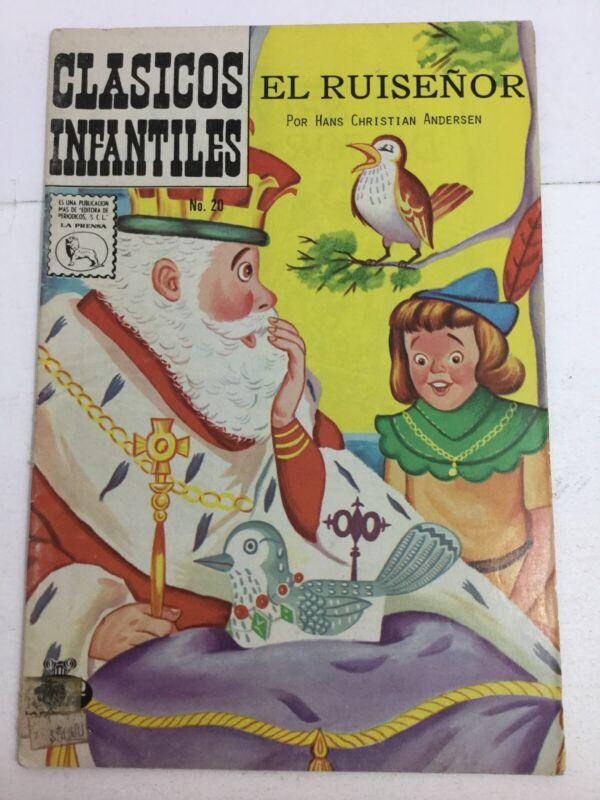 1962 SPANISH COMICS CLASICOS INFANTILES #20 EL RUISEÑOR EDITORA LA PRENSA MEXICO