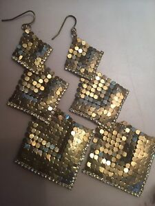 Beautiful silver and gold earrings